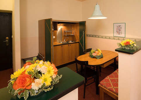 Main hotel residence mala strana room 07 kitchen